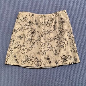 Black and White Flower Skirt